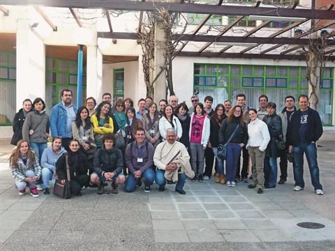 "Udeleženci Comeniusovega projekta ""To boost local and international tourism with OpenStretMap"" na srečanju v Izoli marca lani"