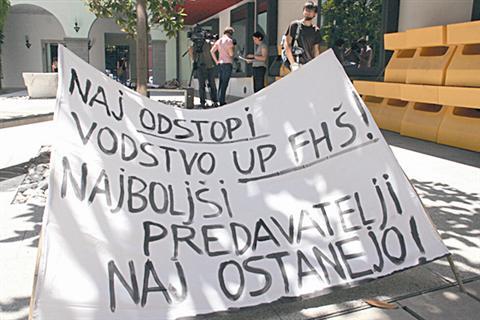 Ogorčeni študentje FHŠ napovedujejo ponovitev leta 1968 oziroma 1971, ko so množice nezadovoljnih evropskih študentov na ulicah zahtevale svoje pravice po avtonomiji in neodvisnosti univerze.