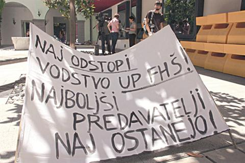 Tako so junija protestirali proti nepodaljševanju pogodb na FHŠ