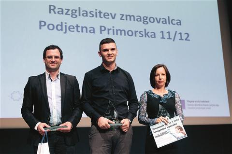 Letošnji zmagovalci Podjetne Primorske (z leve): Boštjan Mohorko, Irman Abdić in Maja Fortunat