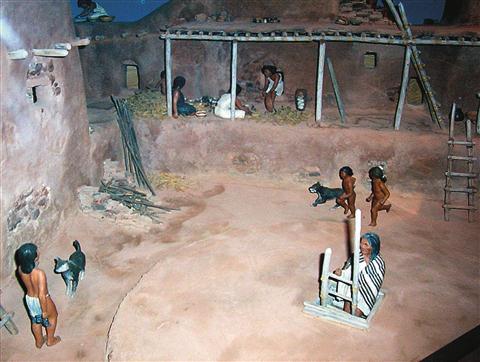 Diorama življenja predzgodovinskih Indijancev, Pecos National Monument