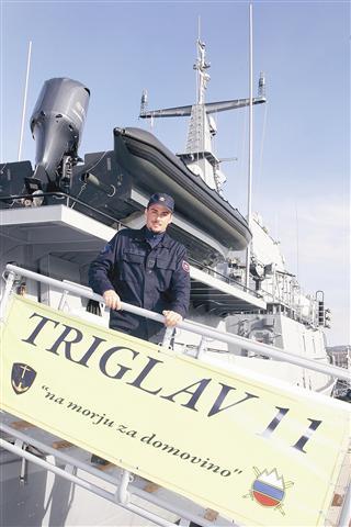 V mirnem času bodo vojaško ladjo Triglav uporabili za reševanje na odprtem morju in preprečevanje onesnaževanja morja