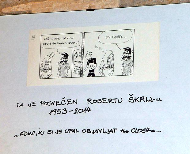 Na eni od sten bara Cameral je najti tudi posvetilo preminulemu novinarju Primorskih novic in dolgoletnemu uredniku 7.vala Robertu Škrlju.