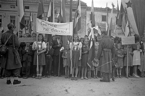Manifestacija v Gorici, 3. maja 1945.
