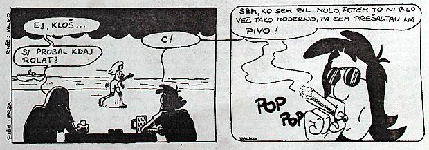 Prva objava stripa The Closh v Primorskih novicah - 10.  januar 1997.