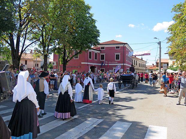 Povorke so se udeležili tudi člani in članice društva Kraški  šopek.