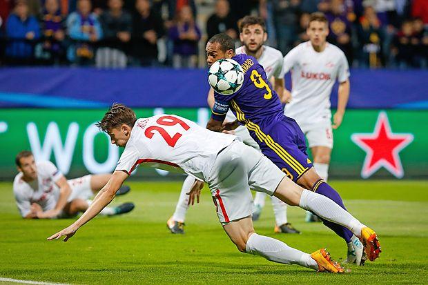 Nogometaši Maribora so v 1. krogu lige prvakov igrali  neodločeno z moskovskim Spartakom 1:1 (0:0).