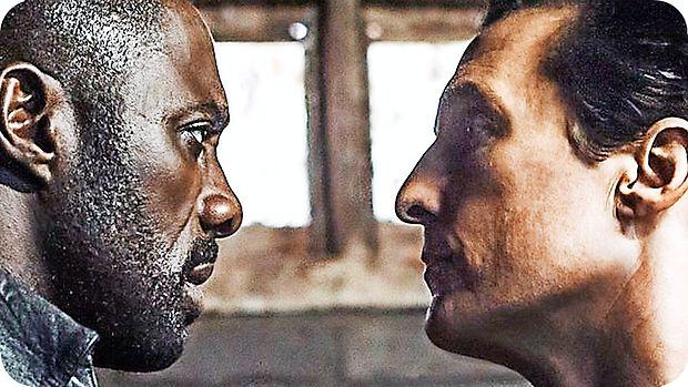 Revolveraša v Temnem stolpu igra Idris Elba, mož v črnem je  Mathew McConaughey.