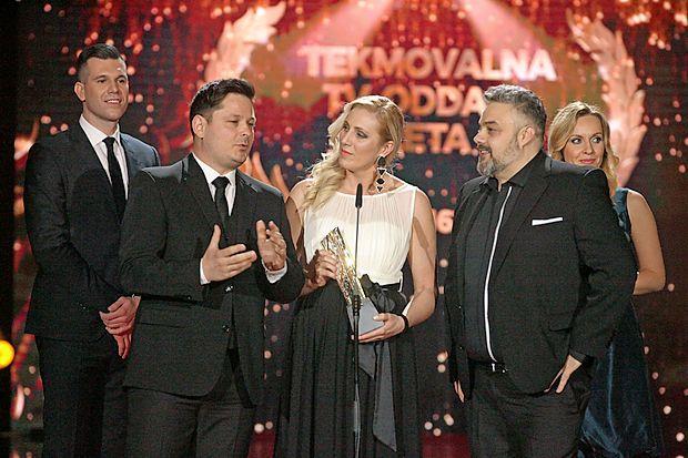 Masterchef sodniki: v ospredju z leve: Luka Jezeršek, Alma  Rekić in Karim Merdjadi