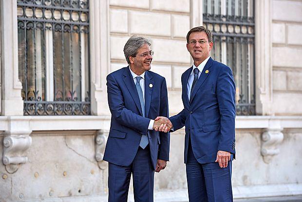 Paolo Gentiloni in Miro Cerar