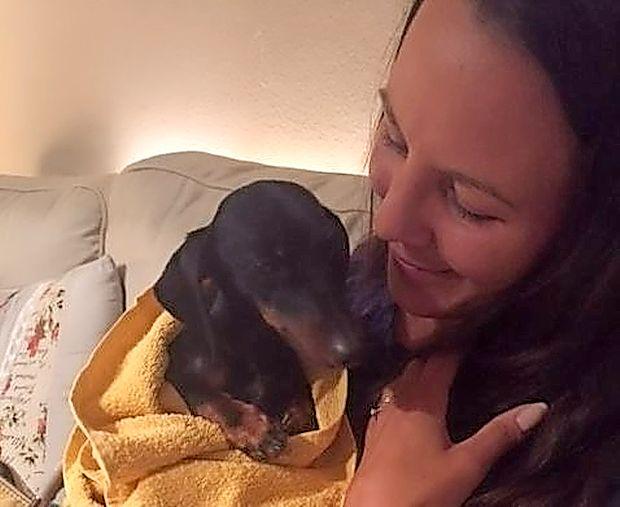 Barbara Žnidaršič s svojo najdeno ljubljenko Chanel