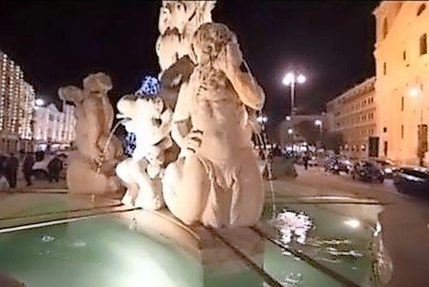 Kopanje v fontani Trevi ni poceni.