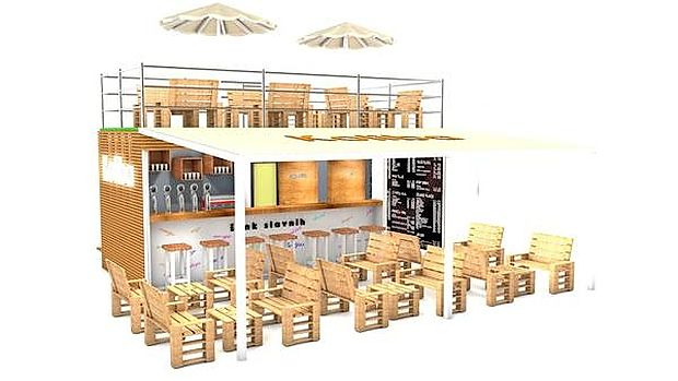 Tako bi bila videti Koliba, kontejner pub
