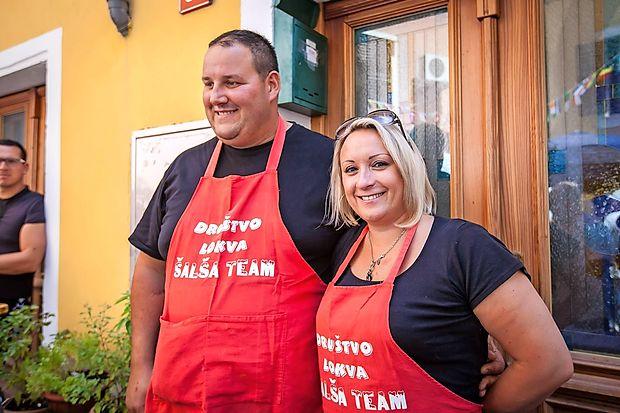 Najboljšo šalšo je po mnenju komisije skuhal dvojec iz  društva Lokve.