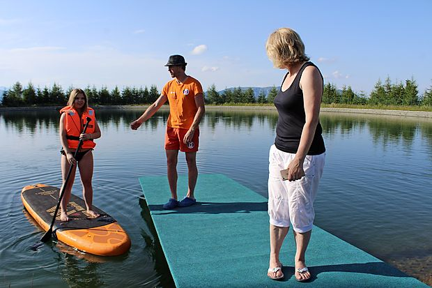 Mirno akumulacijsko jezero je kot nalašč za učenje popularnega supanja.