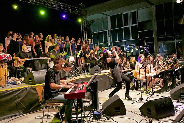 Big band Nova je s Tinkaro Kovač, Mitjo Jerkičem in Singgirls   poskrbel za odličen glasbeni večer.