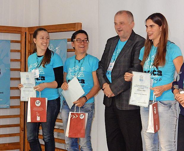 Nina Trušnovec, Nataša Hvala in Sandra  Veličković Jačev so  bile lani  med najbolj uspešnimi na  sočnem start  up vikendu  Posočja.
