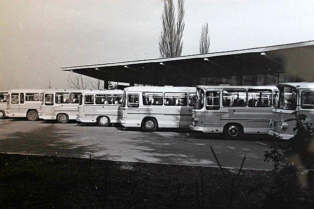 Novogoriška avtobusna postaja v 60-ih letih.