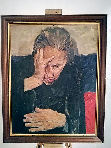 Eno  najboljših Zupetovih del je portret Ivana Mraka na  podlagi slovenske trobojnice.