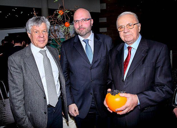 Igor Komel, župan Doberdoba Fabio  Vizintin in Vasja Klavora.