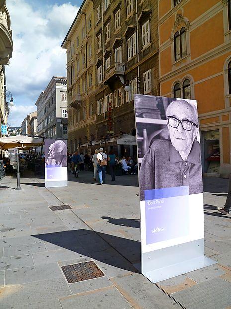 Na prvem Slofestu pred štirimi leti so na ulico Cassa di  risparmio postavili slovenske pisatelje.