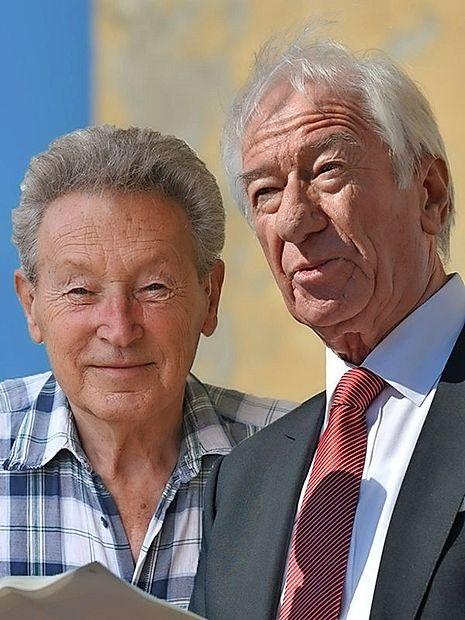 9) September: Bruno Volpi  Lisjak in Franko Košuta,  očeta Ribiškega muzeja  Tržaškega Primorja v Križu