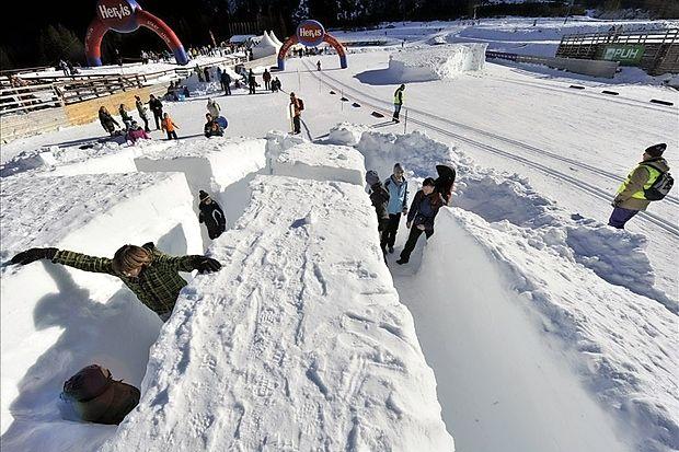 Dan nordijskega smučanja v Planici: poleg smučarskih  skokov z Anjo Tepeš ali Francijem Petkom, teka na smučeh,  hokeja in deskanja na snegu ter snežnega poligona bo  organizirano tudi sankanje, tubing in iskanje izgubljenega  zaklada.
