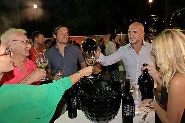 Na Park Wine Partyju je bil, tako kot običajno, velike  pozornosti deležen Aleš Kristančič (Movia).