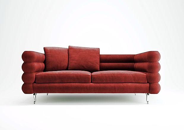 Očarljivo rdečo zofo iz najnovejše kolekcije Moooi je oblikoval  Marcel Wanders.