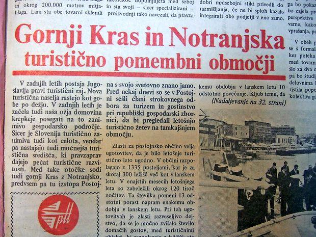 Postojna je bila pred 46 leti dodobra usidrana na jugoslovanskem turističnem zemljevidu.