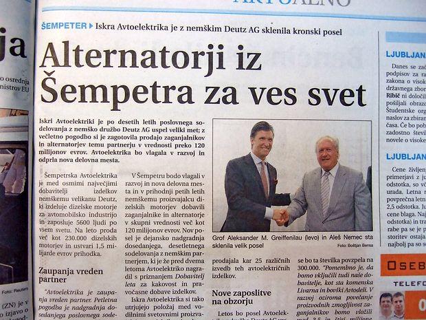 Iskri Avtoelektriki iz Šempetra je pred enajstimi leti uspel veliki met.