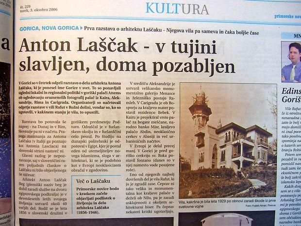 Goriška palača Attems je gostila prvo razstavo o arhitektu  Antonu Laščaku, ki je ponesel ime Gorice v svet.
