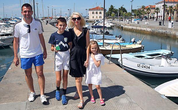 Družina Lipec ob svojih vsakoletnih počitnicah v Sloveniji vsakič rada obišče tudi v Koper.