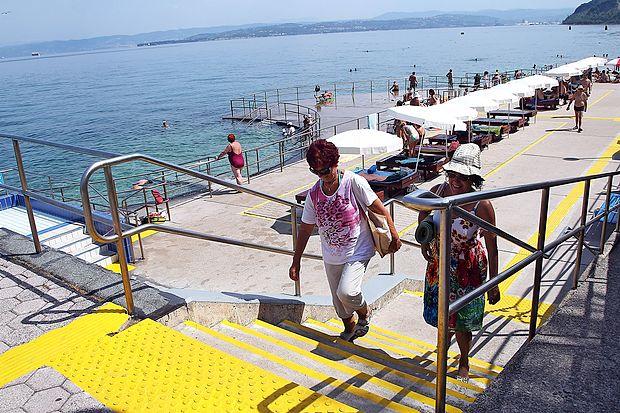 Plaža slepih in slabovidnih v Izoli