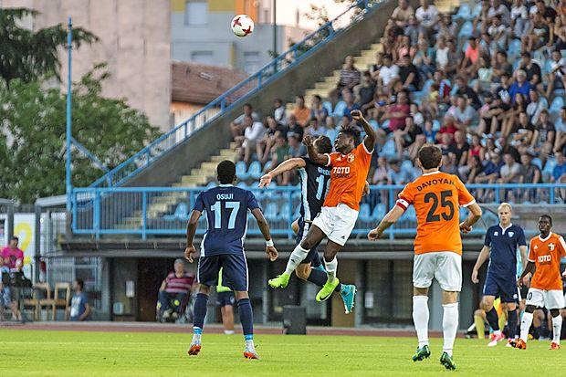 Nogometaše Gorice (v modrih dresih) čaka v četrtek nova  evropska preizkušnja.