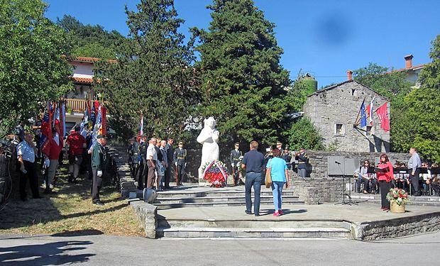 Včerajšnje slovesnosti na Velikem Polju se je udeležil tudi predsednik države Borut Pahor.