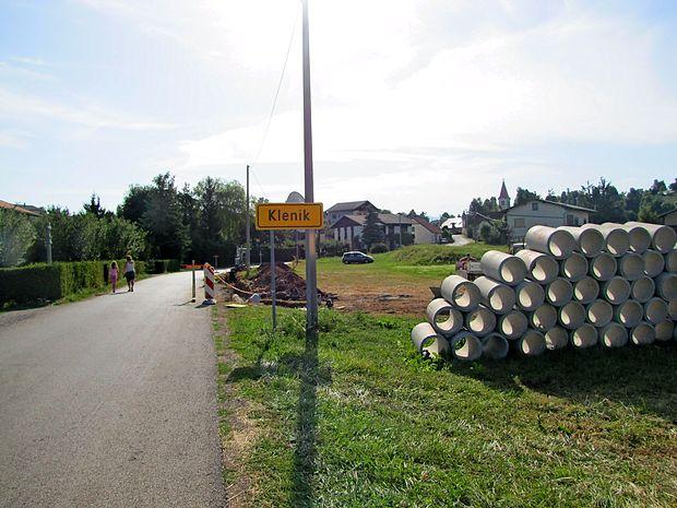 V treh tednih bodo uredili zaključni del meteorne kanalizacije  v Kleniku.