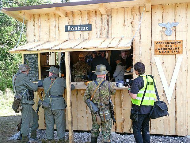Kljub porazu na bojnem polju so imeli Nemci v zaledju dobro  opremljeno kantino.
