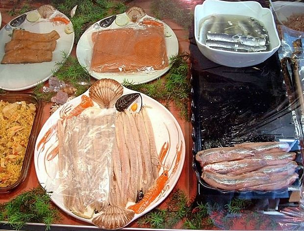 Dieta po krvnih skupinah ločuje tudi posamezne vrste rib in  morskih sadežev glede na krvno skupino.
