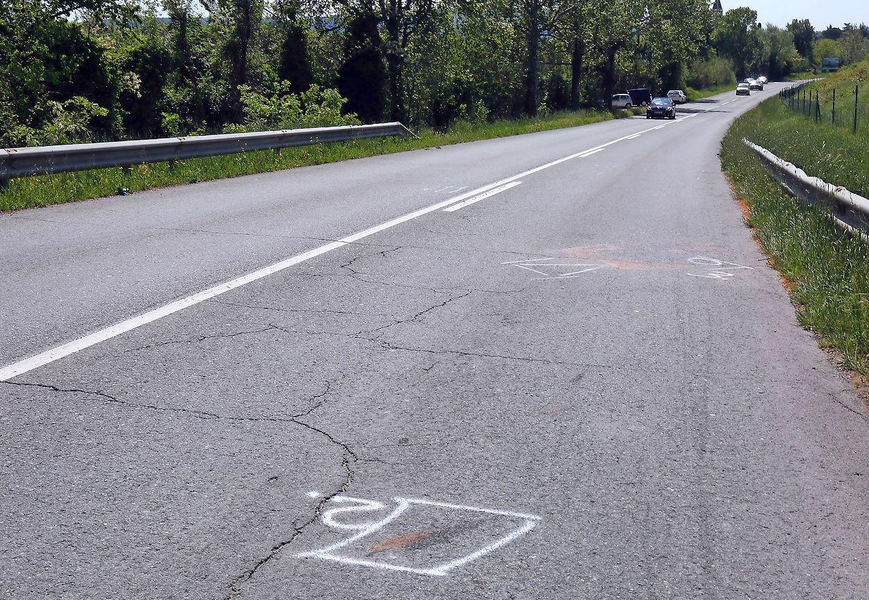 A pedestrian died in a car accident