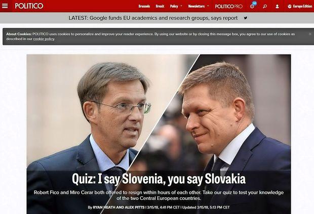 Evropski tisk o skoraj hkratnem odstopu premierjev Slovenije in Slovaške