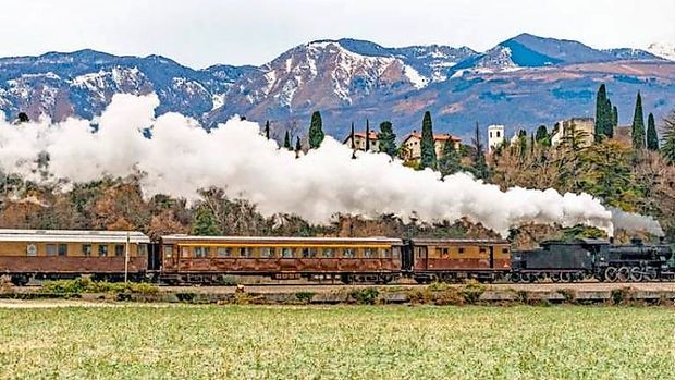 Z muzejskim vlakom po Furlaniji Julijski krajini