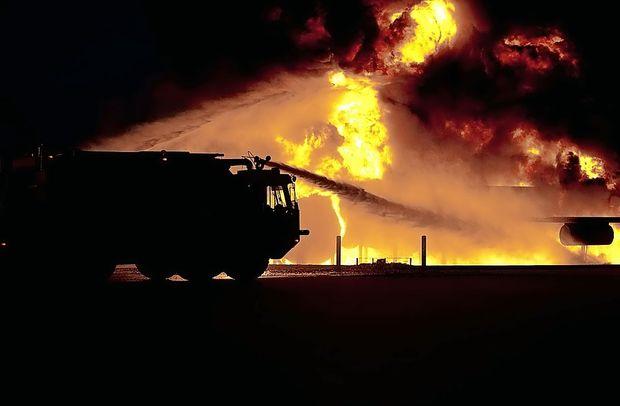 V livarni v Spodnji Idriji je izbruhnil požar