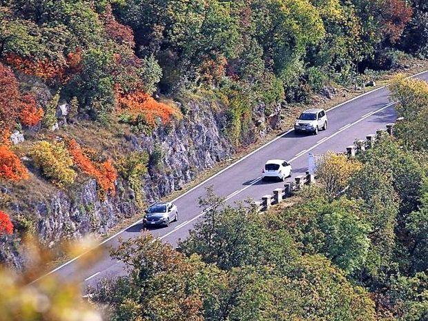 Zaradi padajočih skal zaprta cesta med Jamljami in Dolom