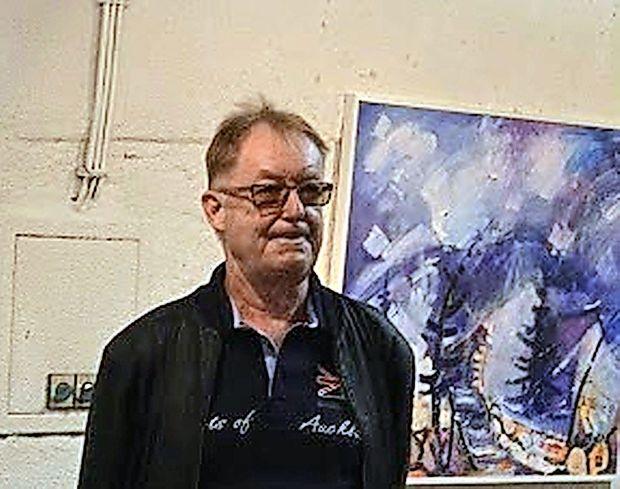 V Pilonovi galeriji razstavlja Brane Jazbar