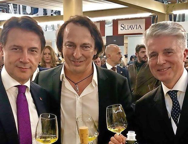 Briško vino Marjana Simčiča za premierja Italije Conteja