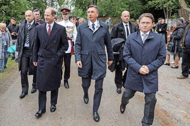 Britanski princ Edward in predsednik Pahor obeležila prvi dan slovensko-britanskega prijateljstva
