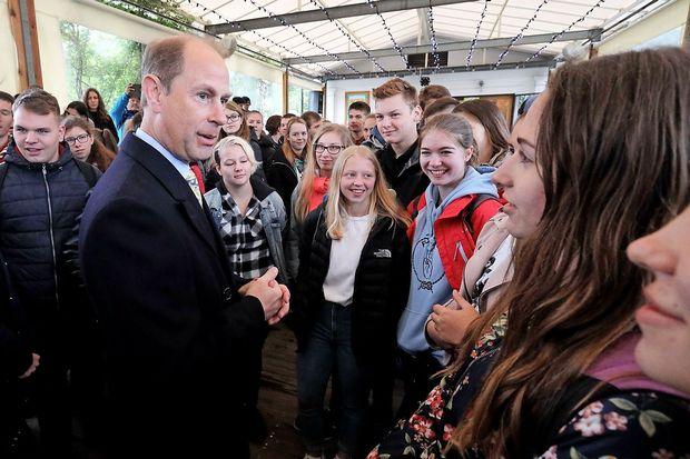 Princ Edward in predsednik Pahor v Tivoliju pozdravila mlade
