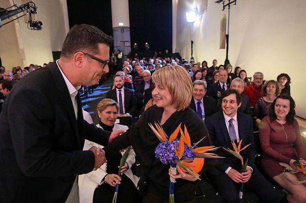 Med prvimi ji je čestital župan (fotogalerija)