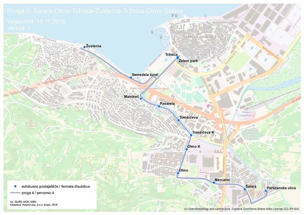 V Kopru nova avtobusna linija